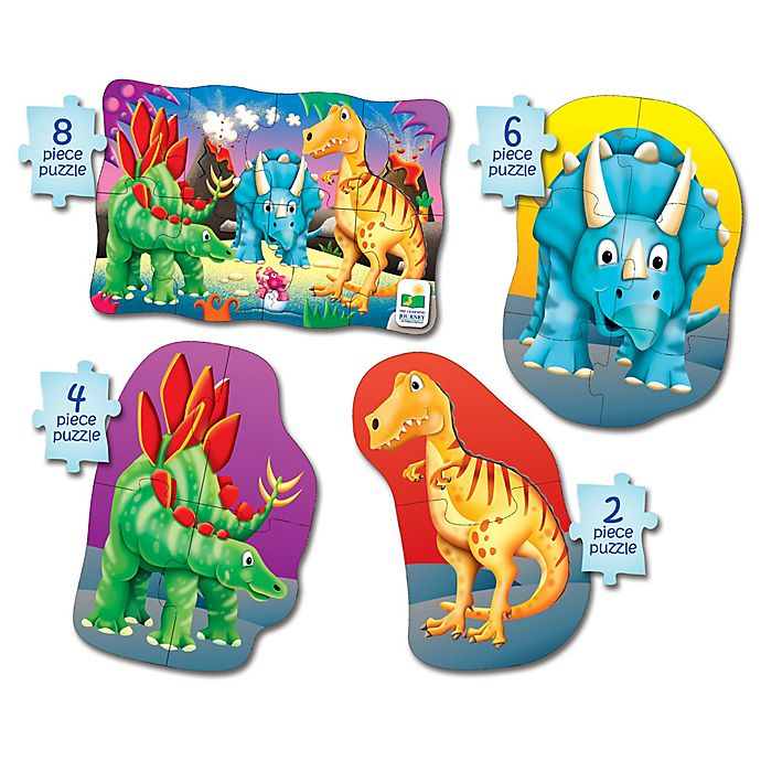 Alternate image 1 for The Learning Journey My First Puzzle Set 4-In-A-Box Dino Puzzles