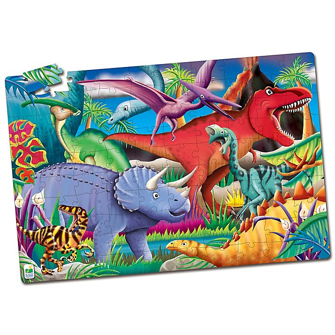 Alternate image 1 for The Learning Journey Puzzle Doubles! Glow in the Dark Dinosaur Puzzle