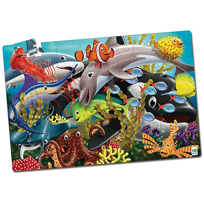 Alternate image 1 for The Learning Journey Puzzle Doubles! Glow in the Dark Sea Life Puzzle