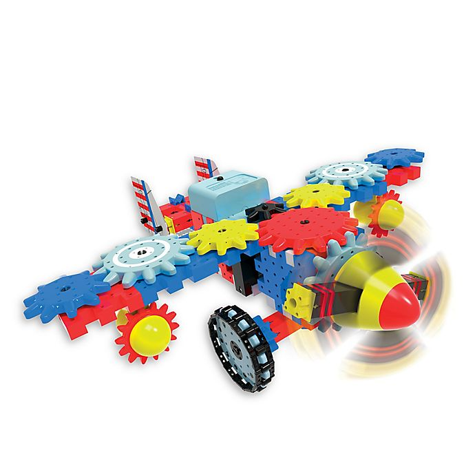 Alternate image 1 for The Learning Journey Techno Gears Aero Trax Plane 80-Piece Construction Set