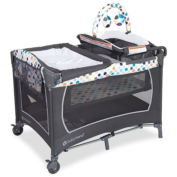 Alternate image 1 for Baby Trend® Lil Snooze Ions Deluxe Nursery Center Playard in Blue