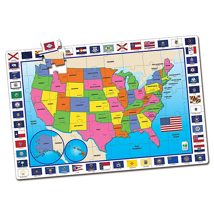 The Learning Journey USA Map Jumbo Floor Puzzle | buybuy BABY on map usa state map game, map of united states game warden, map of asia, map of usa states to learn,