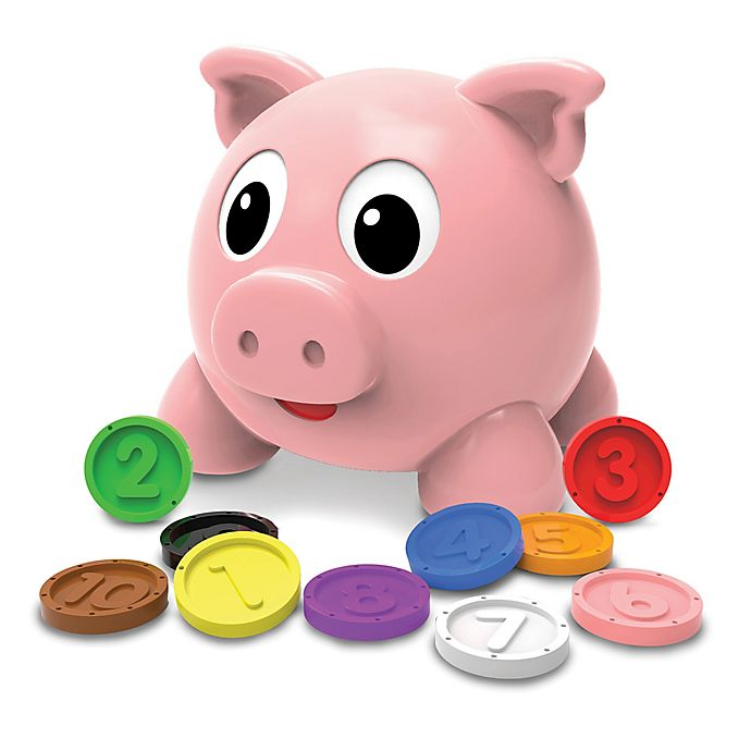 Alternate image 1 for The Learning Journey Learn with Me Numbers and Colors Pig E Bank