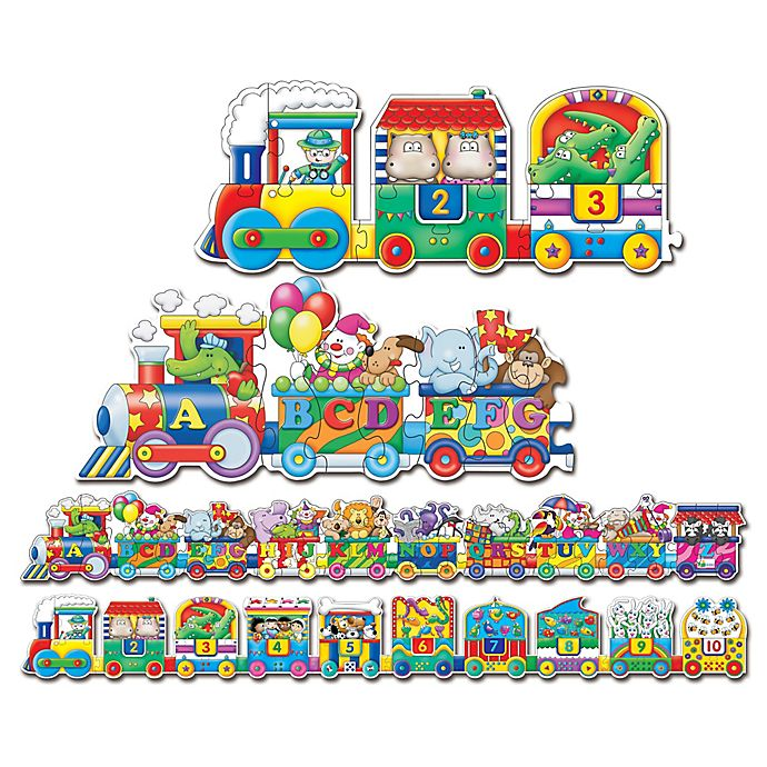 Alternate image 1 for The Learning Journey Puzzle Doubles® Giant ABC and 123 Train Floor Puzzles