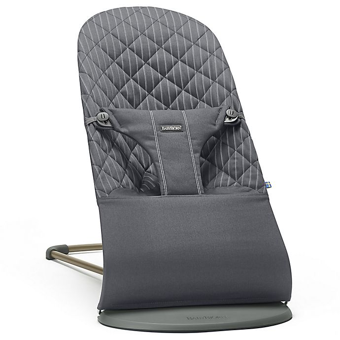 Alternate image 1 for BABYBJORN® Bouncer Bliss in Grey/Pinstripe Cotton