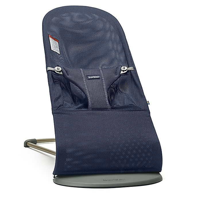 Alternate image 1 for BABYBJORN® Bouncer Bliss in Navy Blue Mesh