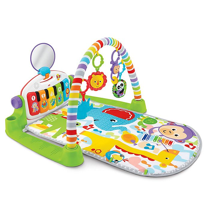 Alternate image 1 for Fisher-Price® Deluxe Kick and Play Piano Gym in Green