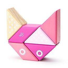 Tegu Travel Pals 6-Piece Kitty Wooden Block Set