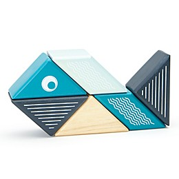 Tegu Travel Pals 6-Piece Whale Wooden Block Set