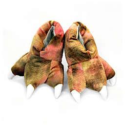 Wishpets Dinosaur Slippers in Pink/Brown