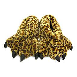 Wishpets Size Medium 12-Inch Furry Leopard Slippers