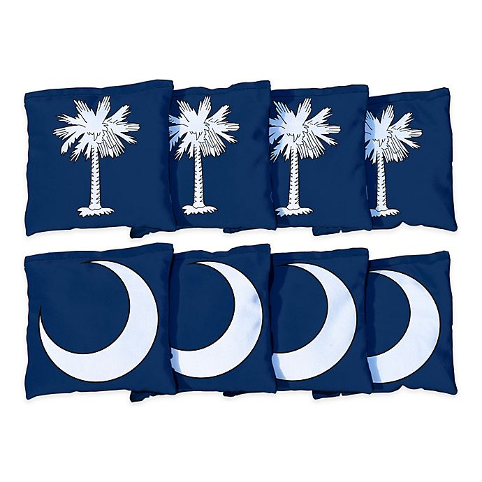 Alternate image 1 for Victory Tailgate South Carolina Flag Regulation Corn-Filled Cornhole Bags (Set of 8)