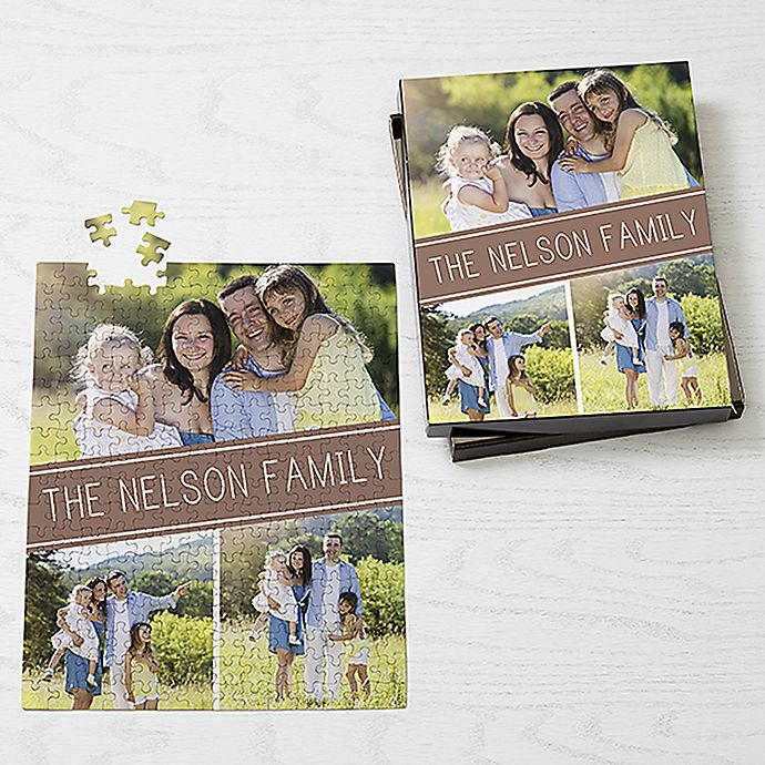 Alternate image 1 for Family Photo Collage 252-Piece Jigsaw Puzzle
