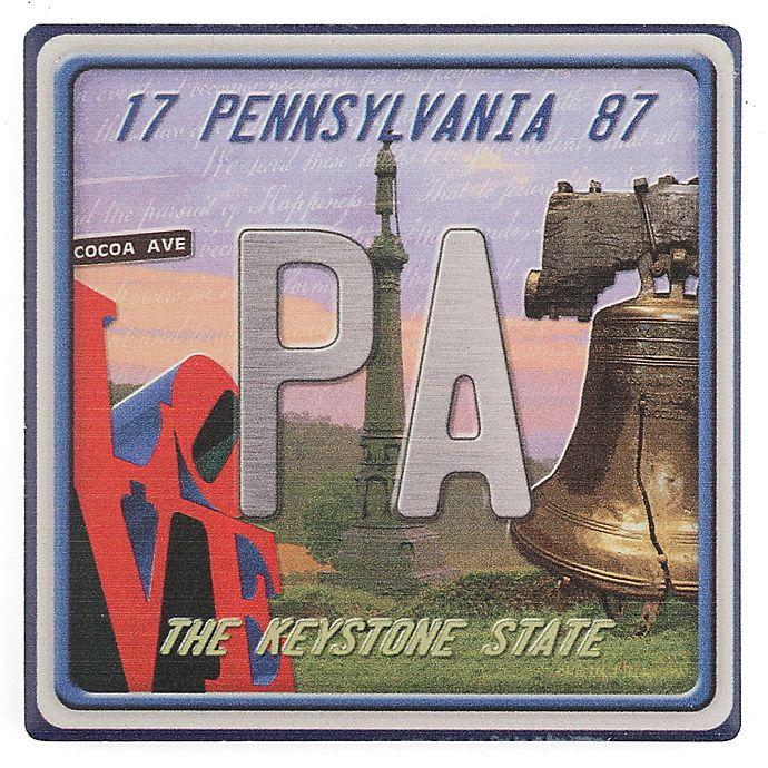 Alternate image 1 for Thirstystone® Dolomite Pennsylvania: The Keystone State Single Coaster