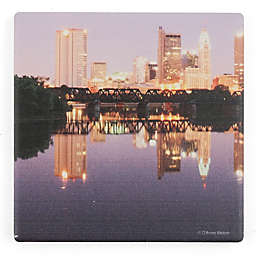 Thirstystone® Dolomite Downtown Columbus at Night Single Square Coaster