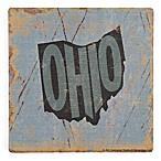 Thirstystone® Dolomite Ohio Distressed Single Coaster