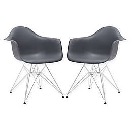 Poly and Bark Padget Arm Chairs (Set of 2)