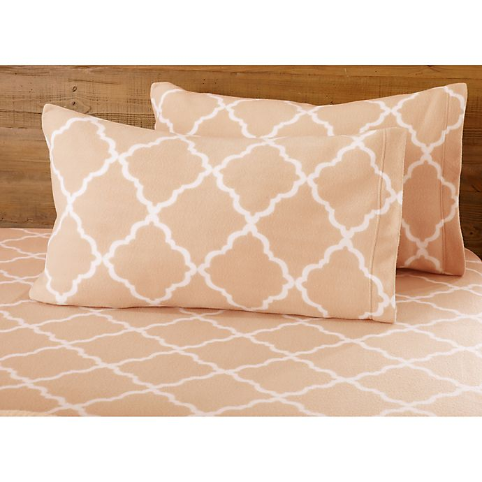 Great Bay Home Lattice Fleece Sheet Set | Bed Bath & Beyond