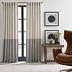 ED Ellen DeGeneres Shadow 84-Inch Rod Pocket/Back Tab Window Curtain Panel in Ivory/Grey