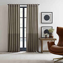 ED Ellen DeGeneres Shadow Rod Pocket/Back Tab Window Curtain Panel