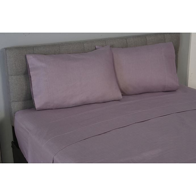 Alternate image 1 for True Stuff 100% Organic Cotton Pure King Pillowcase in Plum