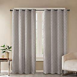 Madison Park Odella Embossed Velvet Grommet Top Room Darkening Window Curtain Panel