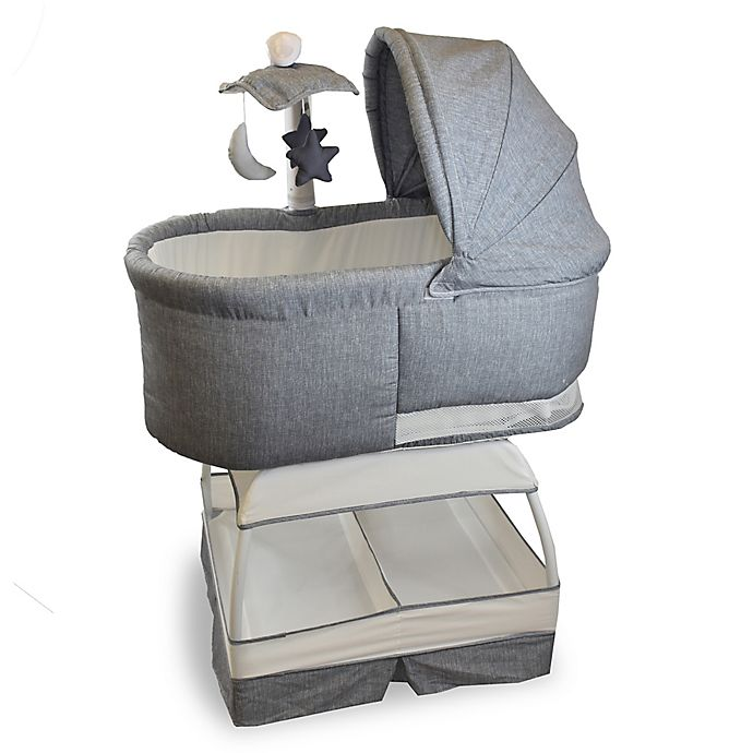 Alternate image 1 for Bliss Sweetli Deluxe Bassinet in Stonewash