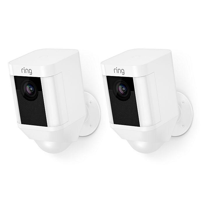 Alternate image 1 for Ring Wireless Spotlight Cam in White (Set of 2)