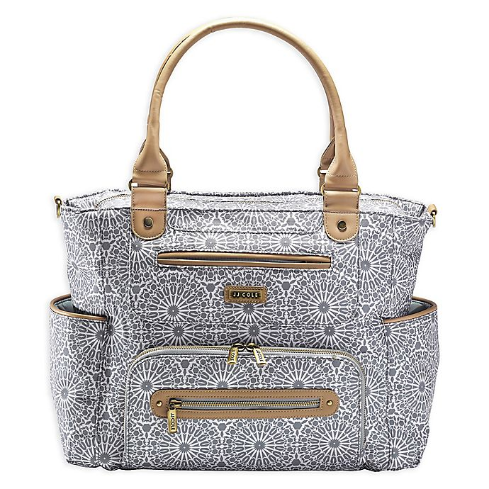 Alternate image 1 for JJ Cole® Moroccan Caprice Diaper Bag in Grey