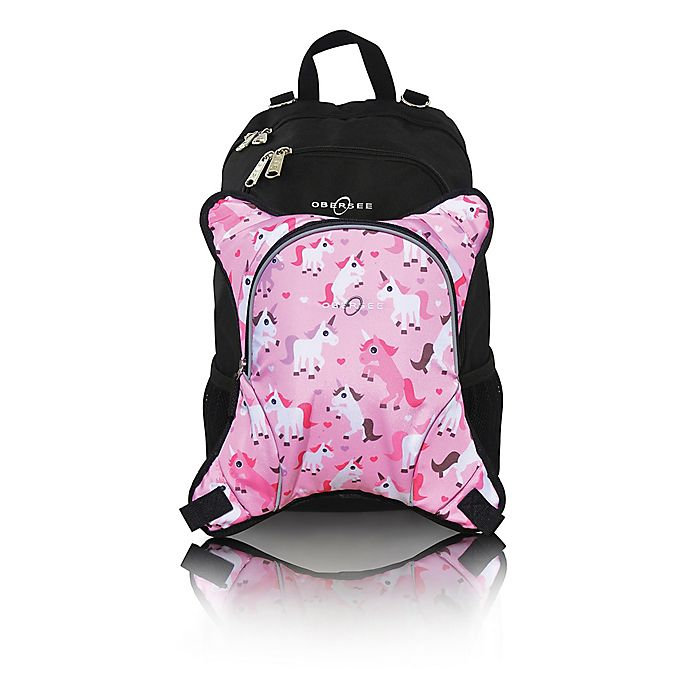 Alternate image 1 for Obersee Rio Diaper Bag Backpack with Detachable Cooler in Unicorns