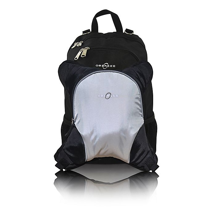 Alternate image 1 for Obersee Rio Diaper Bag Backpack with Detachable Cooler in Silver/Grey