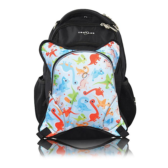 Alternate image 1 for Obersee Rio Diaper Bag Backpack with Detachable Cooler in Dinos