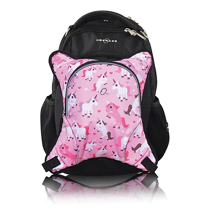 Alternate image 1 for Obersee Oslo Diaper Bag Backpack with Detachable Cooler in Unicorns