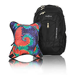 Obersee Bern Diaper Bag Backpack with Detachable Cooler in Tie Dye