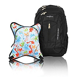Obersee Bern Diaper Bag Backpack with Detachable Cooler in Dinos