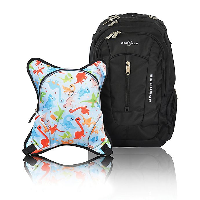 Alternate image 1 for Obersee Bern Diaper Bag Backpack with Detachable Cooler in Dinos