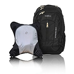 Obersee Bern Diaper Bag Backpack with Detachable Cooler in Silver/Grey