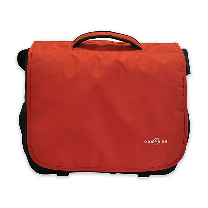 Alternate image 1 for Obersee Madrid Convertible Diaper Bag in Red