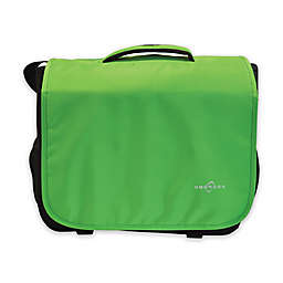Obersee Madrid Convertible Diaper Messenger Bag with Viola Changing Kit in Green