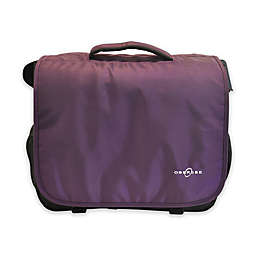 Obersee Madrid Convertible Diaper Messenger Bag with Viola Changing Kit in Purple