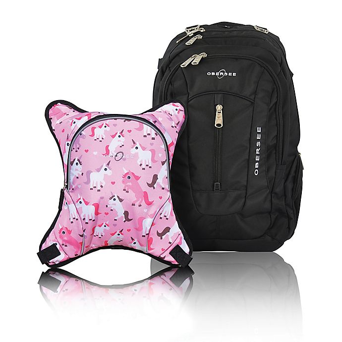 Alternate image 1 for Obersee Bern Diaper Bag Backpack with Detachable Cooler in Unicorns