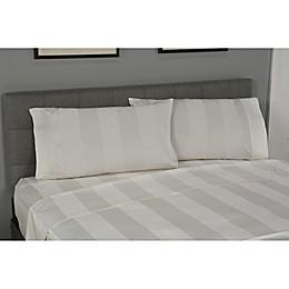 True Stuff 100% Organic Cotton Mega Stripe Flat Sheet