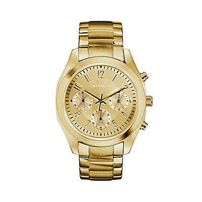 CARAVELLE Ladies' 36mm Chronograph Watch in Goldtone Stainless Steel