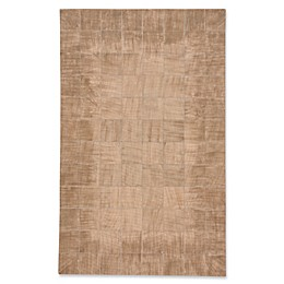 Capel Rugs Butte Brushed Blocks Leather Area Rug
