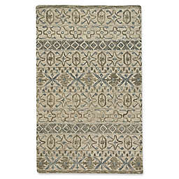 Capel Rugs Lincoln Geometric Area Rug In Buff Blue