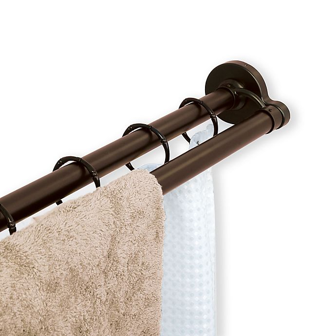 Bed Bath And Beyond Shower Rod titan™ neverrust™ aluminum double straight shower rod | bed bath
