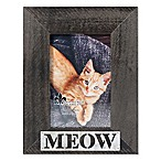 Lawrence Frames 4-Inch x 6-Inch  Meow  Distressed Wood Picture Frame