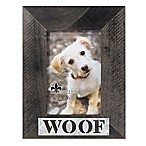 Lawrence Frames 4-Inch x 6-Inch  Woof  Distressed Wood Picture Frame