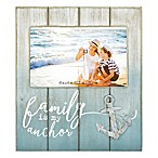 Coastal  Family is My Anchor  4-Inch x 6-Inch Wood Picture Frame