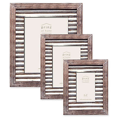 Prinz Galvanized Metal and Wood Picture Frame in Natural